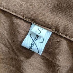 02a5462ba2 Mimi Lulu Dresses - Brown Plain Long-Sleeve Shirt Dress size S